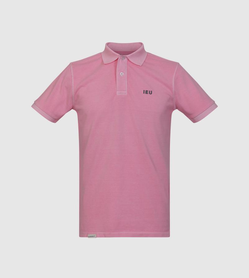 Polo Tibet IE University. Color rosa front