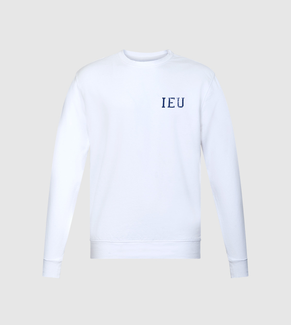 Sudadera Nilo IE University. Color blanco front
