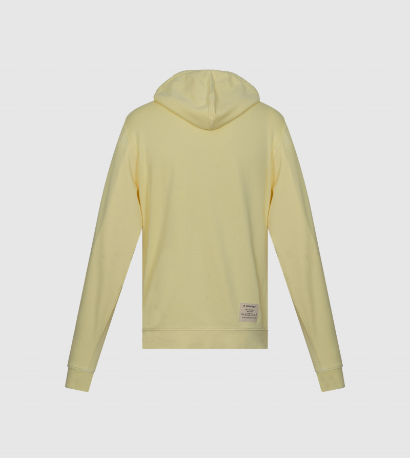 Sudadera Con Capucha Sena IE University. Color amarillo back