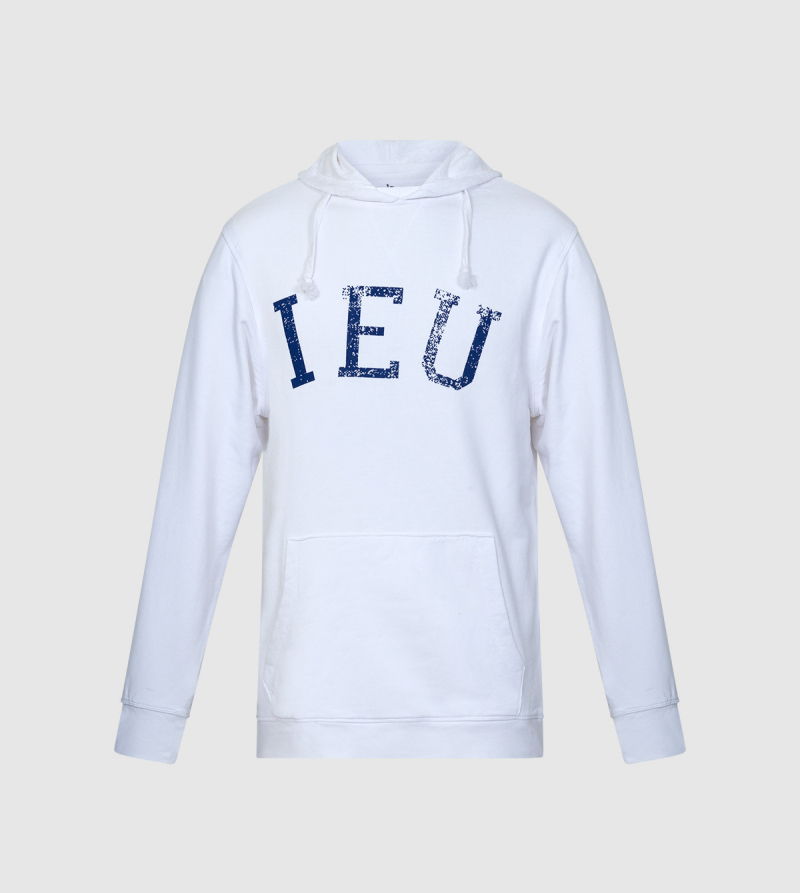 Sudadera Con Capucha Sena IE University. Color blanco front