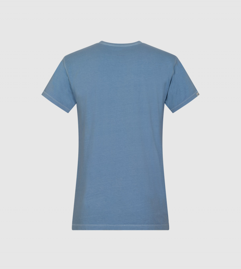 Poseidon IE University T-shirt. Light blue color back