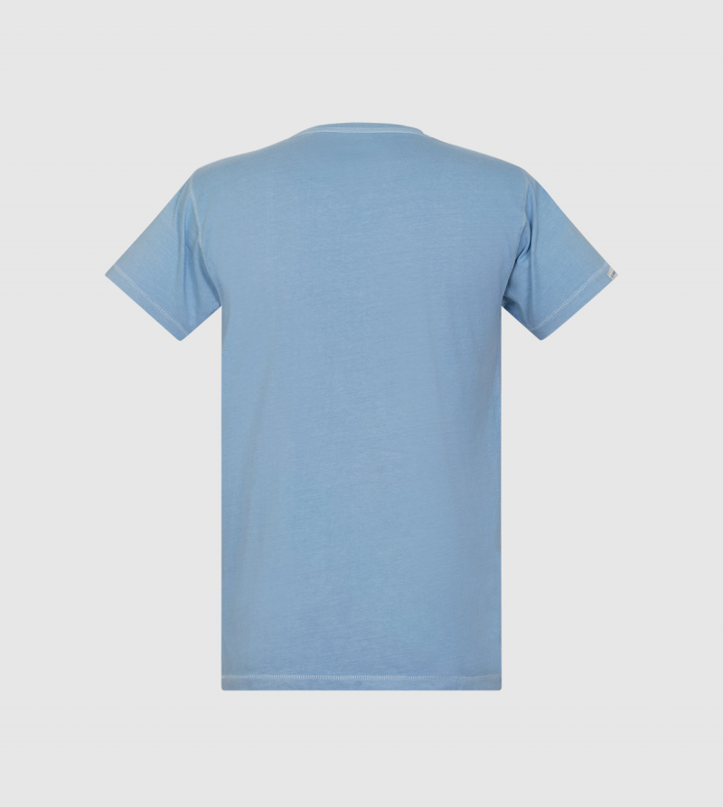 Lightning IE University T-shirt. Light blue color back