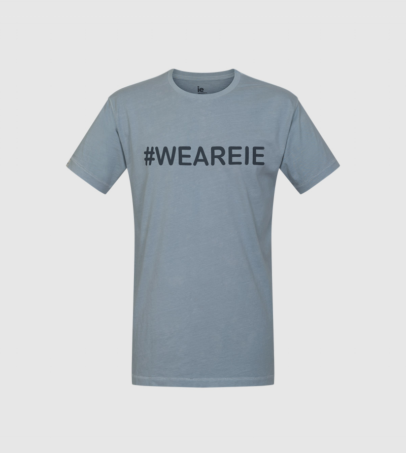 """We Are IE"" T-shirt . Grey color front"