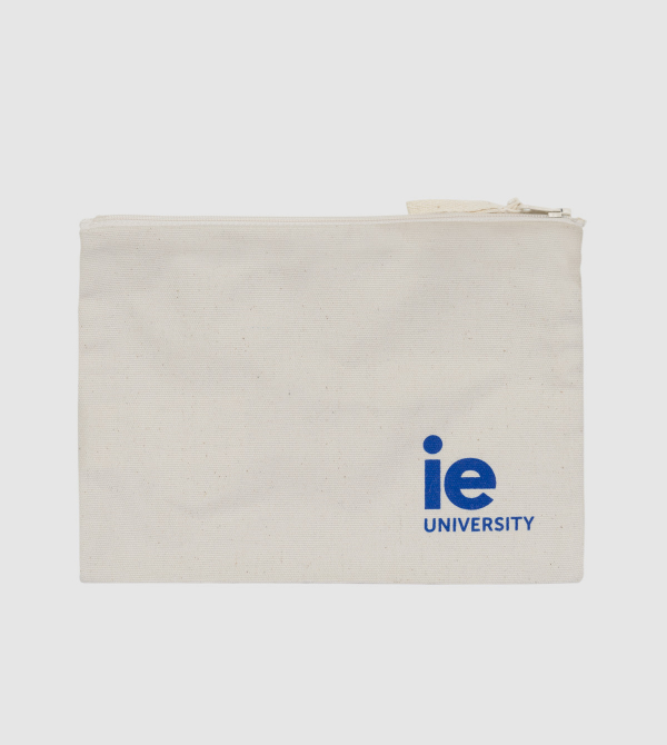 IE University Pencil Case . white colour front