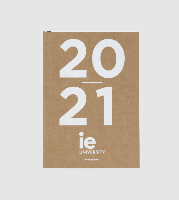 IE University Planner 2020-2021. craft colour front