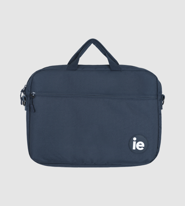Maletin IE . blue briefcase front