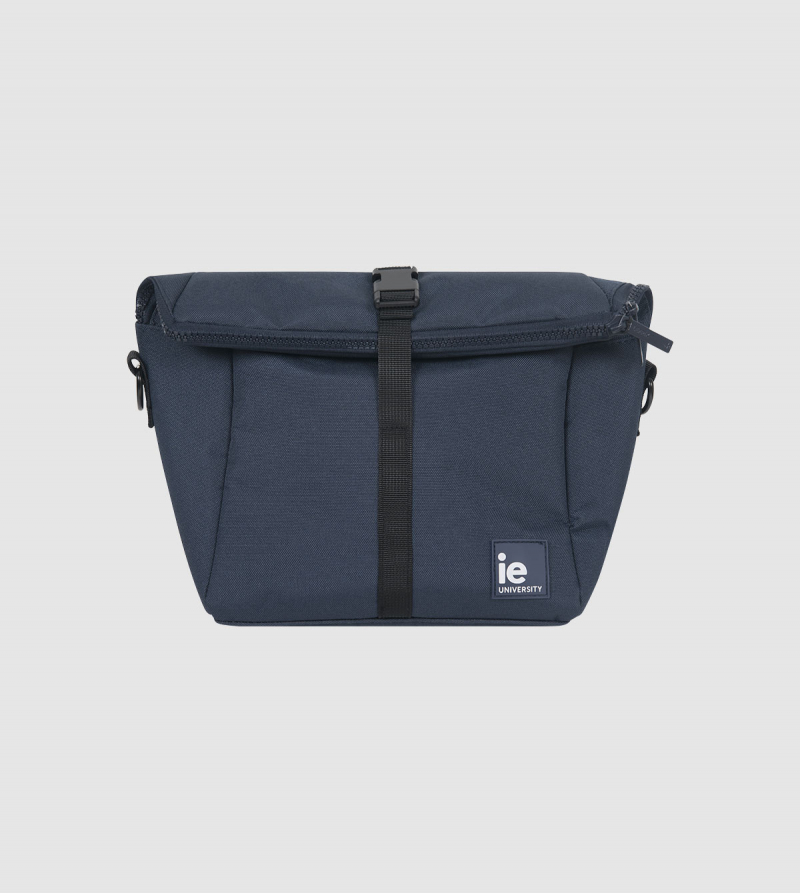 IE University Insulated Lunch Bag. night blue colour front