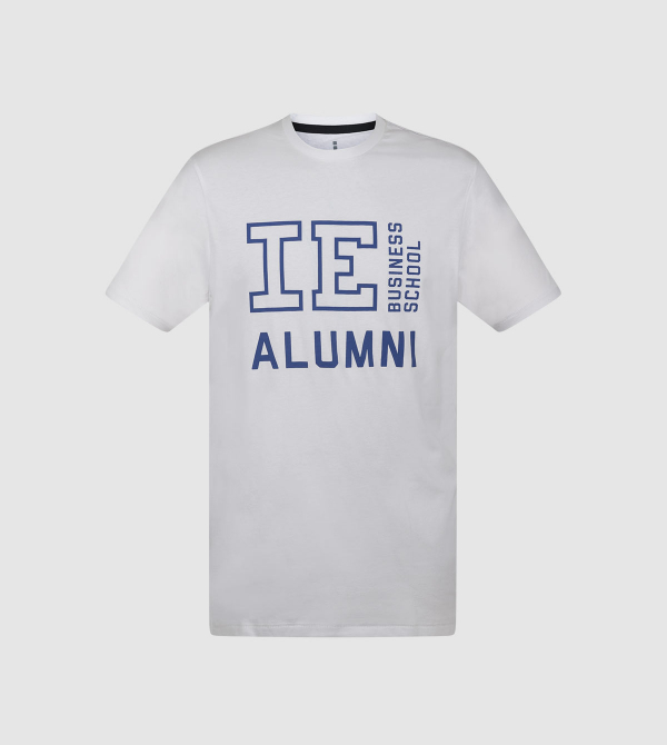 IE Alumni IEBS T-shirt. white colour front