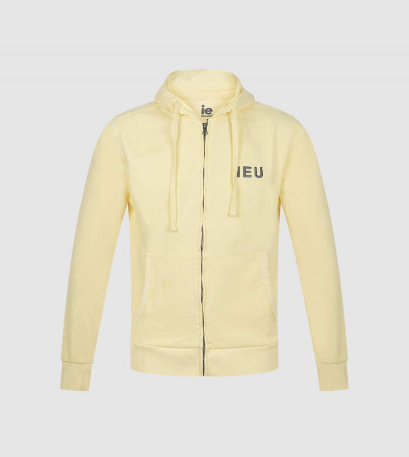 Amazona IE University Full-Zip Hoodie . Yellow color front