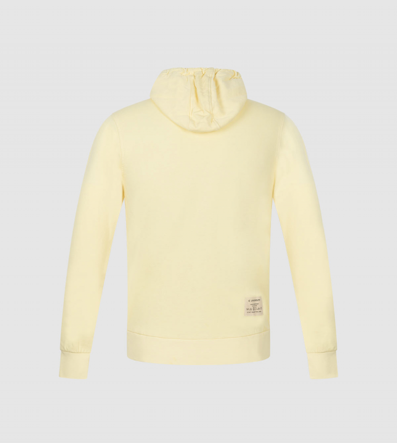 Amazona IE University Full-Zip Hoodie . Yellow color back
