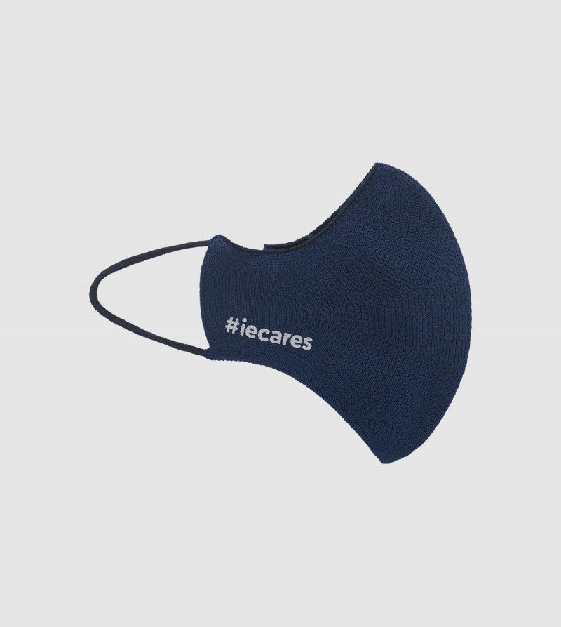 IE Cares Be Mask . midnight navy colour front